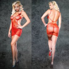 Fishnet Babydoll Lingerie Bodystocking 15013-1