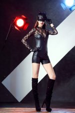Cosplay Party Leather Black Sexy Cat Costumes 21782