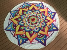 Toalla de playa redonda Indian Mandala 21434-3