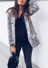 Long Sleeve Sexy and Chic Snak Skin Blazer