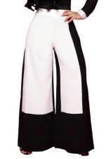 Block Color Wide Legges Party Pants