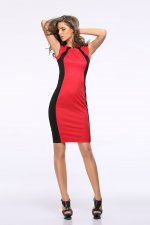 Block Color O-Neck Sleeveless Office Dress