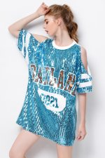 Sequins Short Sleeve Tall Shirt