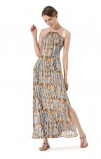 Open Sides Colorful Long Straps Dress