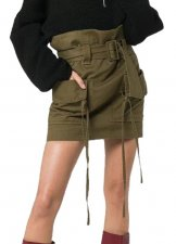 Army Green Casual Mini Skirt