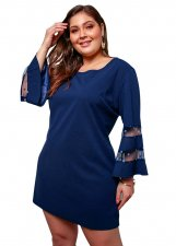 Plus Size Mini Dress with Wide Sleeves