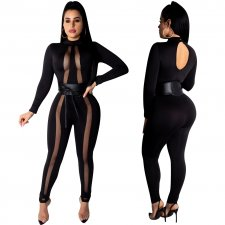 Black Long Sleeve Sexy Bodycon Jumpsuit