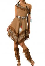Tribe Women One Shoulder Dress Costume