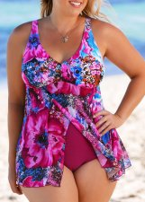 Print Floral Two-Piece Modest Swimwear