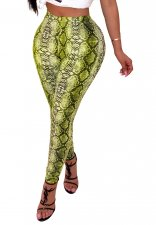 Snake Skin Sexy Fitted Leggings