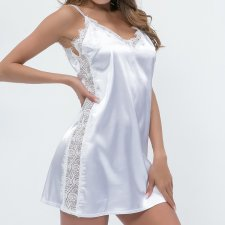 White Lace and Silk Sleepwear
