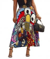 Print Colorful Hippie Maxi Skirt