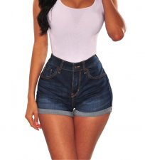 Sexy strakke denim blauwe shorts