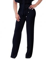 High Waist Lace-Up Elegant Trousers