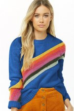 O-Neck Stripes Pullover Sweater
