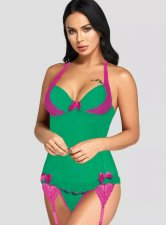 Green and Pink Sexy Galter Lingerie