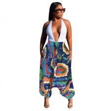 African Colorful Print Boho Trousers