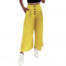 Casual High Waist Loose Trousers