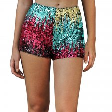 Sequins Short Coloré Coloré