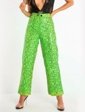 Blue Snake Skin Loose Trousers