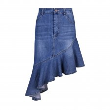 Denim Irregular Mermaid Skirt
