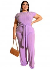 Plus Size Pure Knot Shirt and Pants