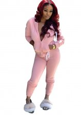 Plain Color Long Sleeve Hoody Tracksuit
