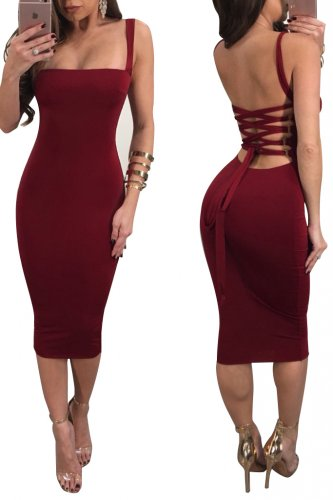Sexy Straps Slimming Dress