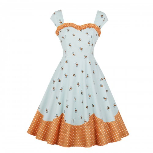 Wholesale Plus Size Wide Straps Vintage Skater Dress ...