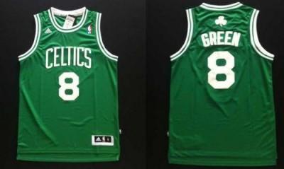 Revolution 30 Boston Celtics #8 Jeff Green Green Stitched NBA Jersey