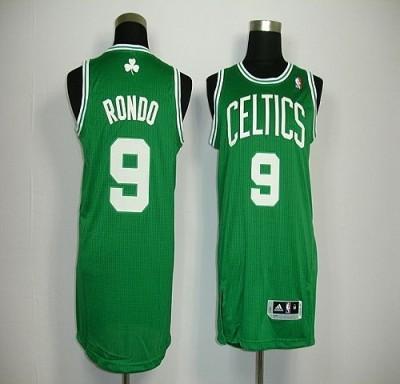 Revolution 30 Boston Celtics #9 Rajon Rondo Green Stitched NBA Jersey