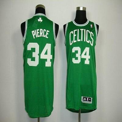 Revolution 30 Boston Celtics #34 Paul Pierce Green Stitched NBA Jersey