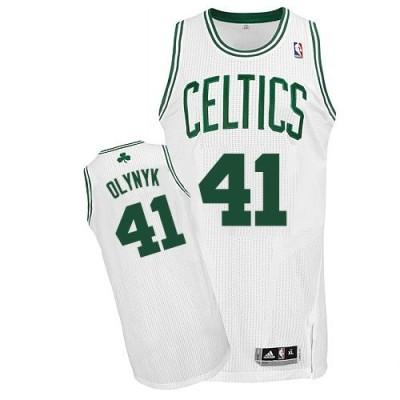 Revolution 30 Boston Celtics #41 Kelly Olynyk White Stitched NBA Jersey