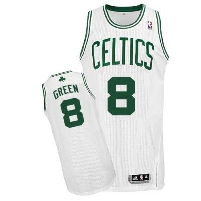 Revolution 30 Boston Celtics #8 Jeff Green White Stitched NBA Jersey