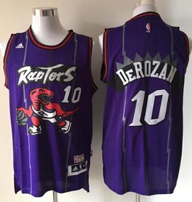 Toronto Raptors #10 DeMar DeRozan Purple Hardwood Classics Stitched NBA Jersey