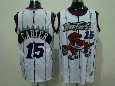 Toronto Raptors #15 Vince Carter White Swingman Stitched NBA Jersey