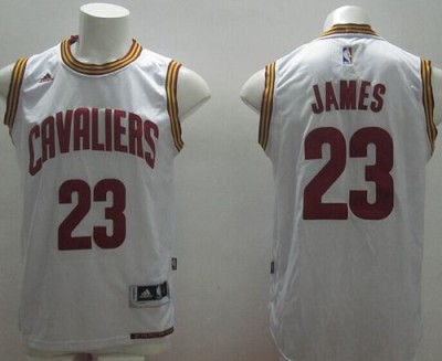 Revolution 30 Cleveland Cavaliers #23 LeBron James White Home Stitched NBA Jersey