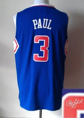 Revolution 30 Autographed Los Angeles Clippers #3 Chris Paul Blue Stitched NBA Jersey