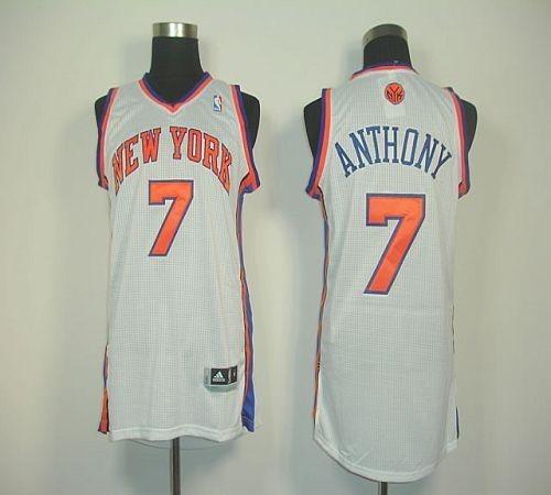 US$ 19.99 - New York Knicks #7 Carmelo Anthony White Revolution 30