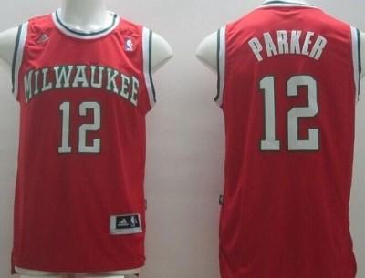 Revolution 30 Milwaukee Bucks #12 Jabari Parker Red Stitched NBA Jersey