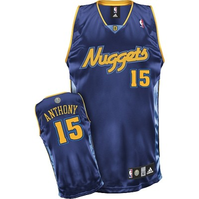 Denver Nuggets #15 Carmelo Anthony Stitched Dark Blue Youth NBA Jersey