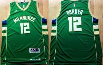 Revolution 30 Milwaukee Bucks #12 Jabari Parker Green Stitched NBA Jersey