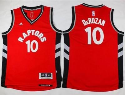 Toronto Raptors #10 DeMar DeRozan Red Youth Stitched NBA Jersey