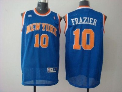 New York Knicks #10 Walt Frazier Blue Stitched NBA Jersey