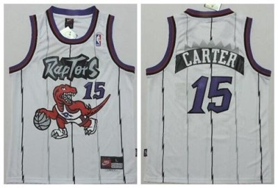 Toronto Raptors #15 Vince Carter White Throwback Youth Stitched NBA Jersey