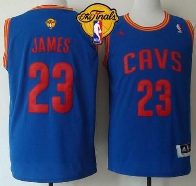 Revolution 30 Cleveland Cavaliers #23 LeBron James Light Blue The Finals Patch Stitched NBA Jersey
