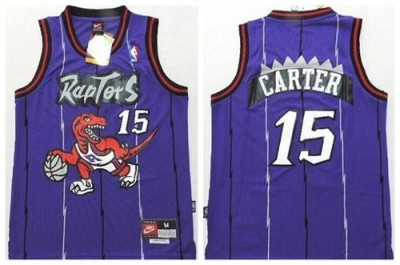 Toronto Raptors #15 Vince Carter Purple Throwback Youth Stitched NBA Jersey