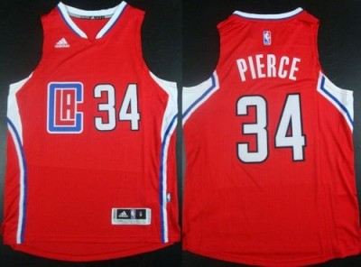 Los Angeles Clippers #34 Paul Pierce Red Stitched NBA Jersey