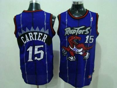 Toronto Raptors #15 Vince Carter Blue Swingman Stitched NBA Jersey