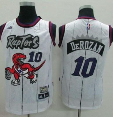 Toronto Raptors #10 DeMar DeRozan White Throwback Youth Stitched NBA Jersey